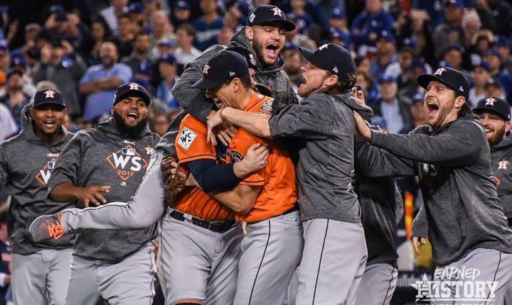 Los Astros se alinearon y se vuelven campeones de la Serie Mundial