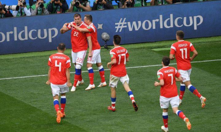 Rusia goleó a Arabia en el debut del Mundial 2018