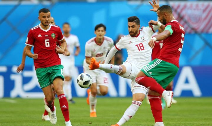 Irán sufre ante Marruecos en San Petersbusgo