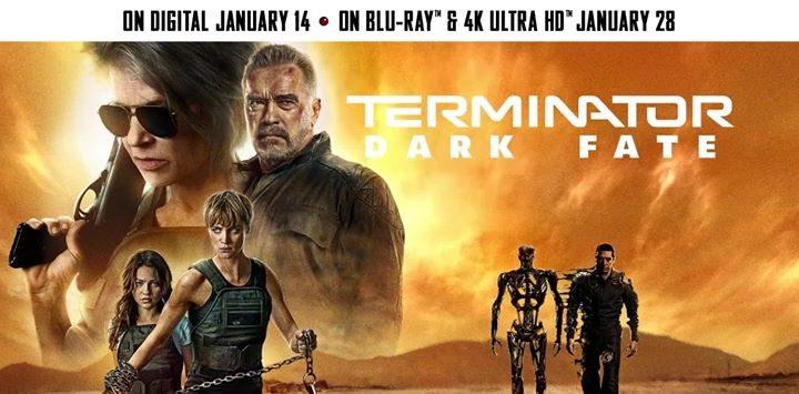 Digital, Blu-ray y 4K Combo de Terminator Dark Fate para nuevo año
