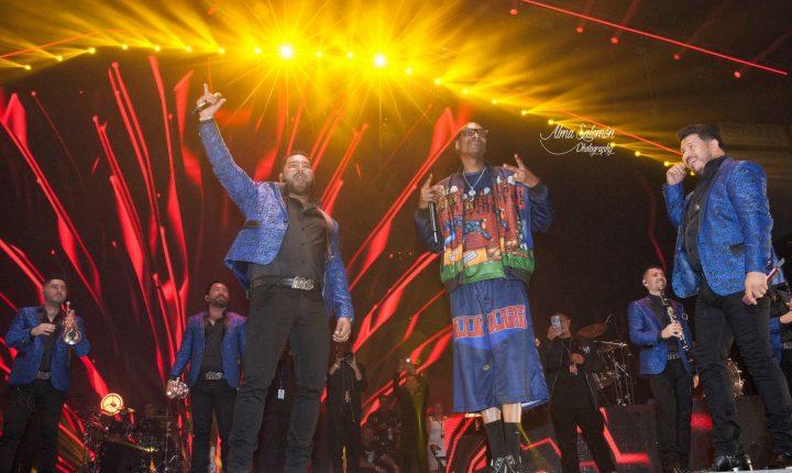 Histórico concierto de Banda MS junto a Snoop Dogg en California
